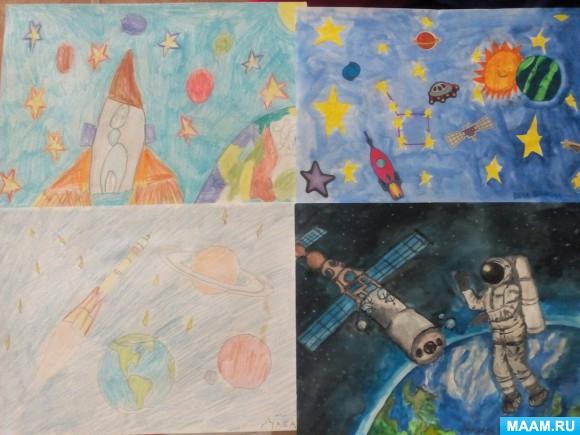 Конкурсы творческих работ ко дню космонавтики